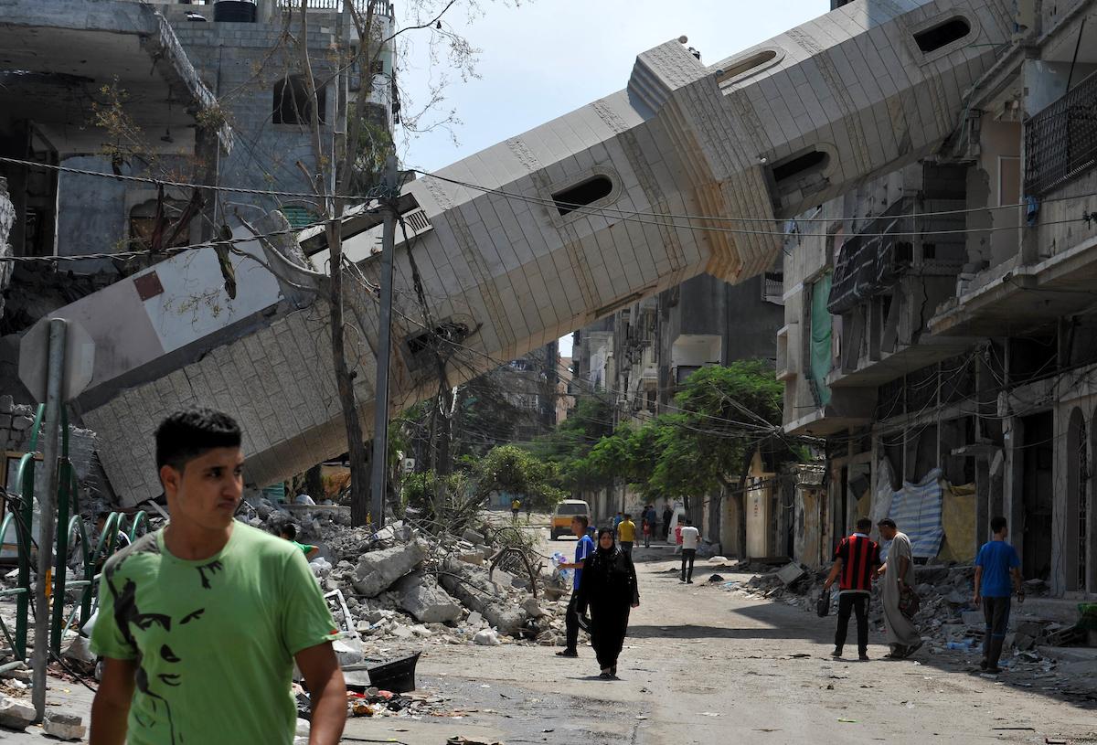 Gaza, 15 août 2014. Photo: Ezz Zanoun/APA Images