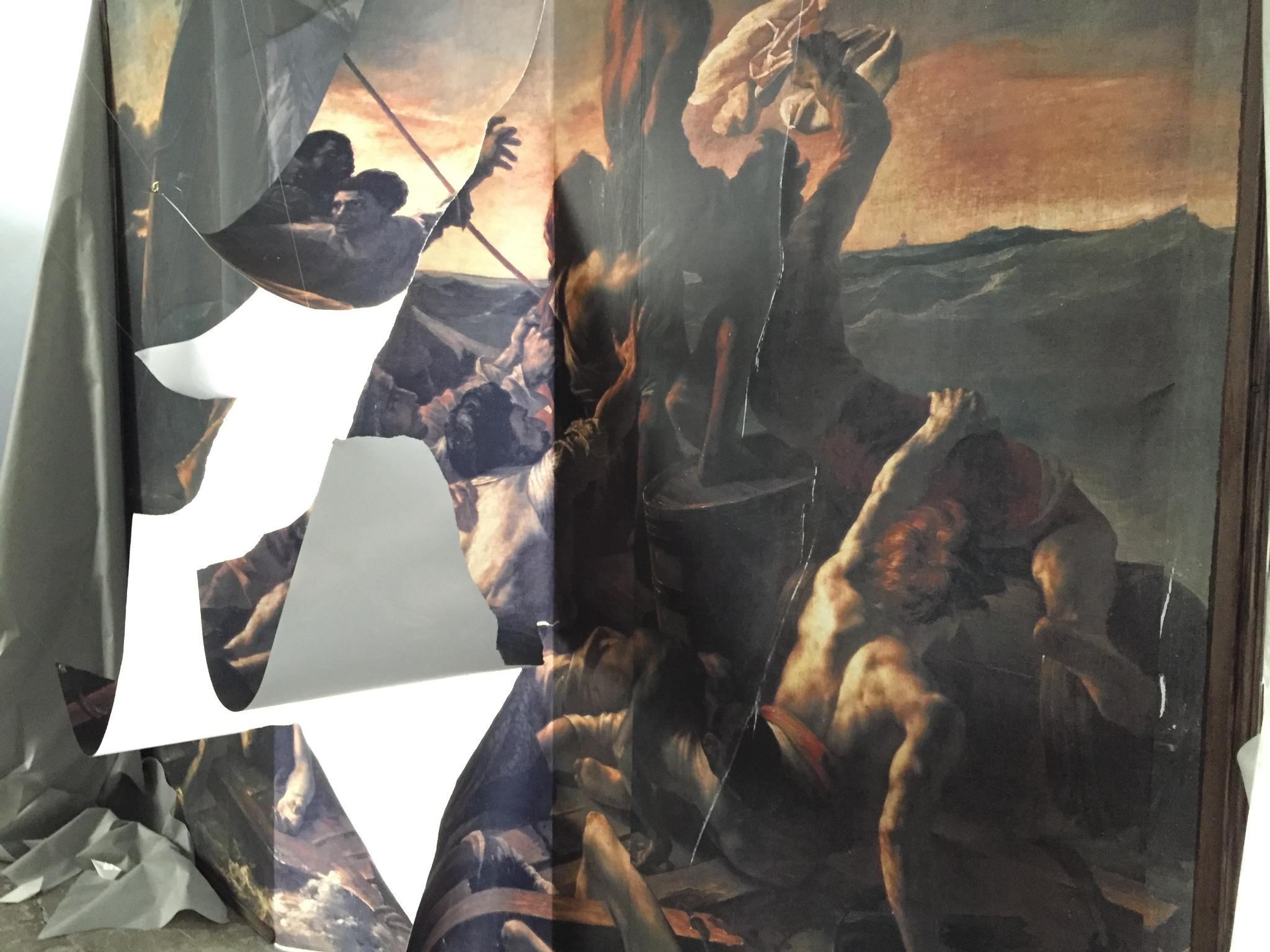 Vue de l'exposition Le Navire de Thésée de Raphaël Fabre