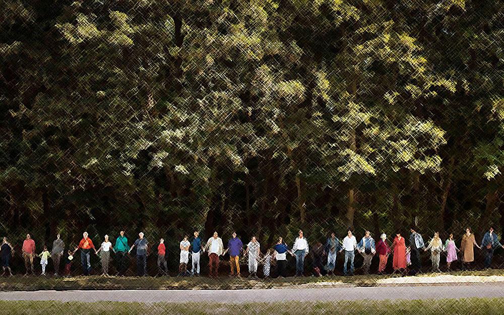 """Manifestation contre le projet de transformer la forêt de Romainville en """"base de loisirs"""""""