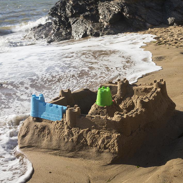Château de sable © Nathalie Seroux, Au bord de la mer