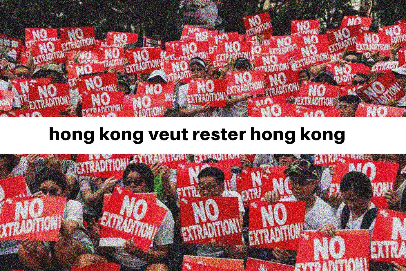 Des dizaines de milliers d'habitants de Hong Kong sont descendus dimanche dans la rue pour dire leur rejet d'un projet du gouvernement local pro-Pékin d'autoriser des extraditions vers la Chine continentale.