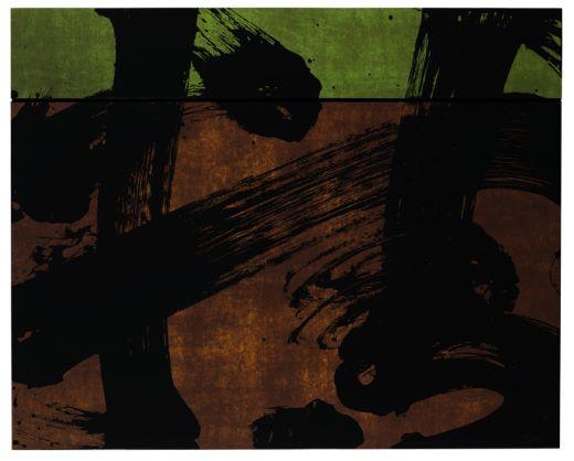 Fabienne Verdier    Concept d'automne V   Encre, pigments et vernis sur toile, 2012 (147 x 183)