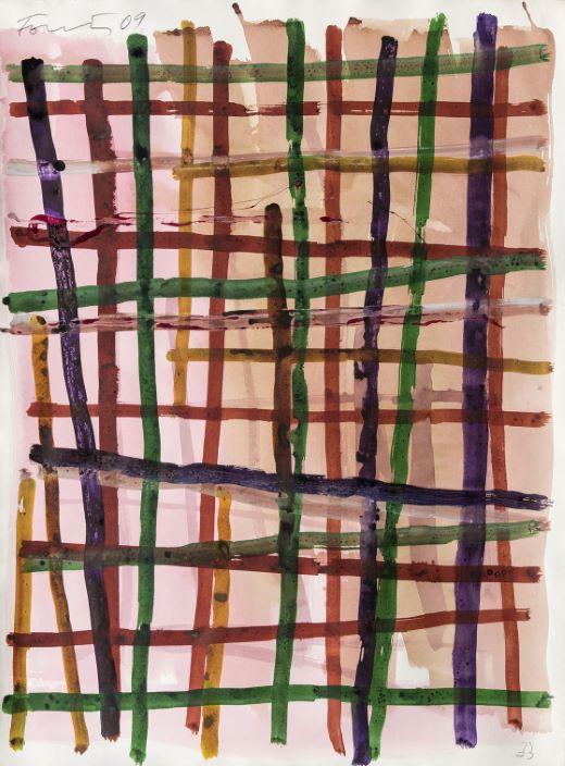Günther Förg    Untitled   2009, gouache et encre sur papier, 72,8 x 53,6 cm