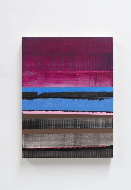 Juan Uslé    Morro y trasvase   Vinyle, dispersion, acrylique et pigment sur toile, 2019 (61 x 46)