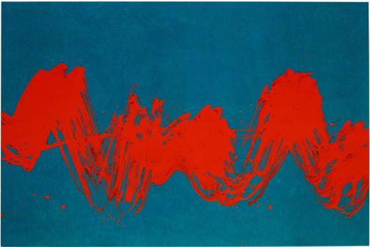 Fabienne Verdier    Intuitive rythm II   Acrylique et technique mixte sur toile, 2018 118 x 178 cm