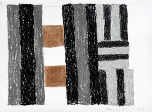 Sean Scully  12.26.84   Pastel sur papier, 1984 56 x 75,6 cm