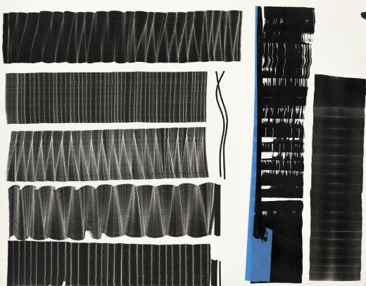 Juan Uslé    Notas para Soñé que revelabas (2)   Aquarelle sur papier, 2015 65 x 71 cm
