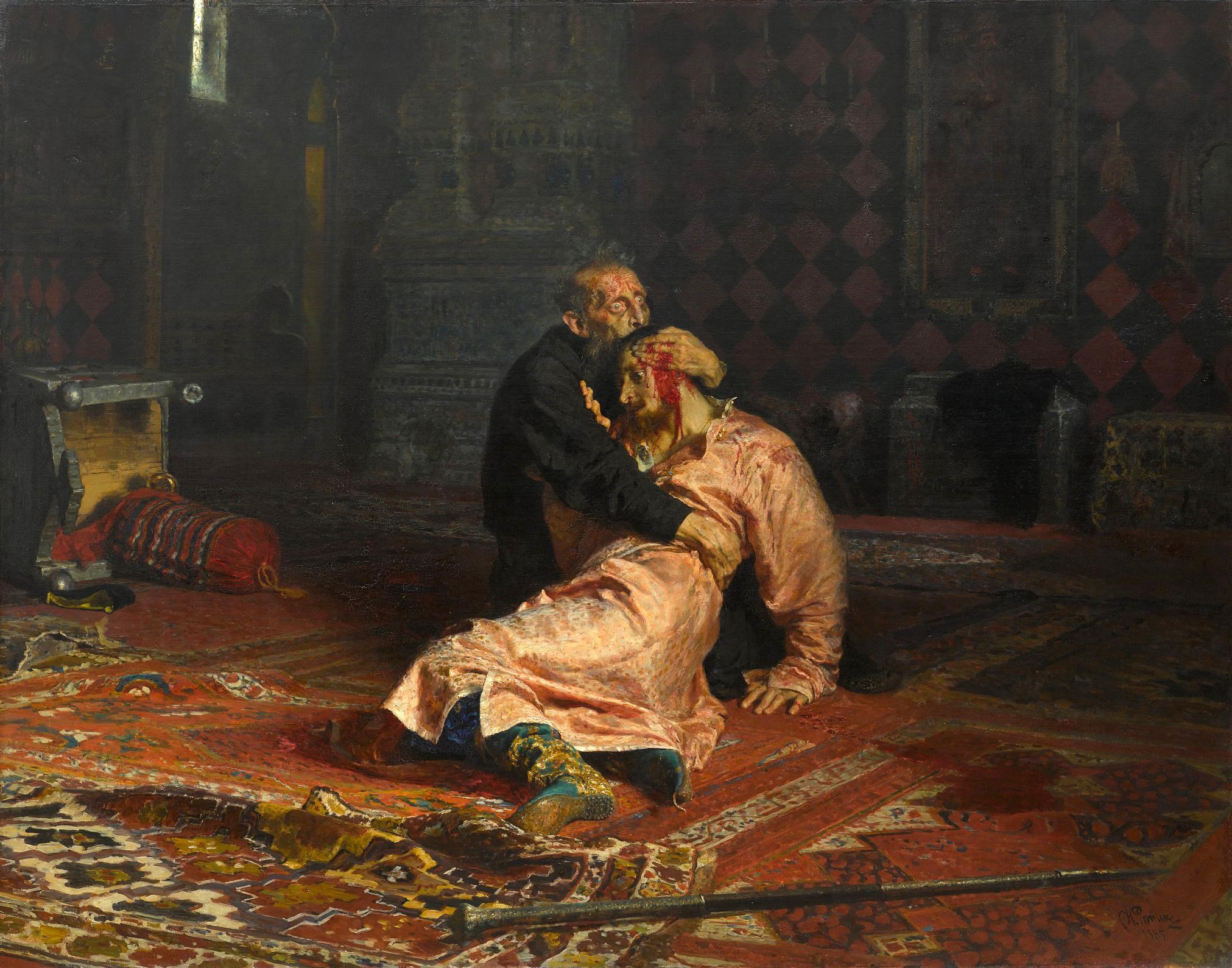 Ivan le Terrible tue son fils -  Ilia Répine, 1885