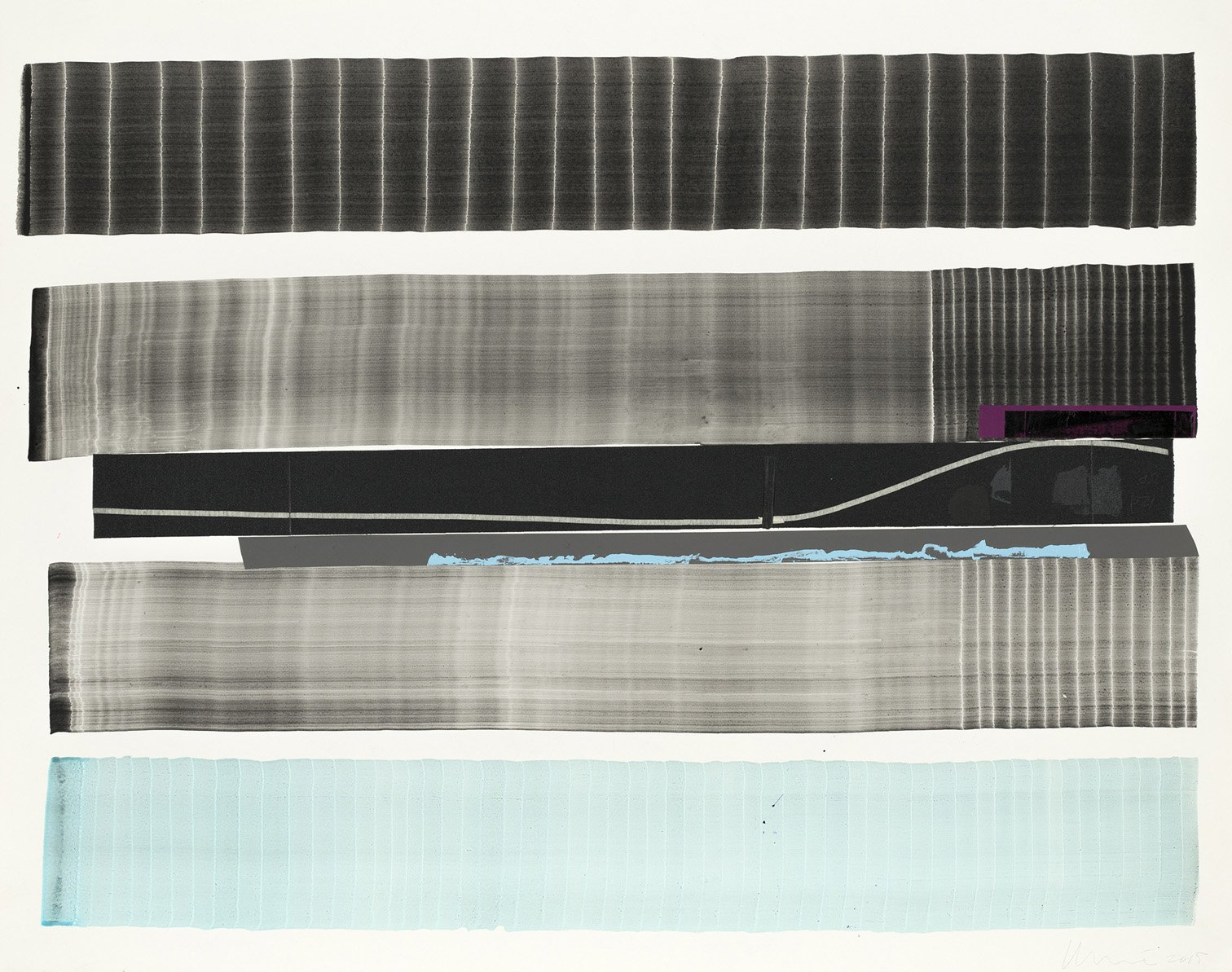 Juan Uslé, Notas para Sone que reveladas (3), 2015, Aquarelle sur papier, 65 x 71 cm, © Juan Uslé Courtesy Galerie Lelong & Co
