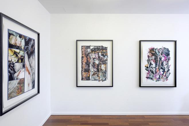 Vue de l'exposition Carolee Schneemann ,  mfc-michèle didier, Paris, du 13 septembre au 9 novembre 2019.  Crédit photographique : Charles Duprat