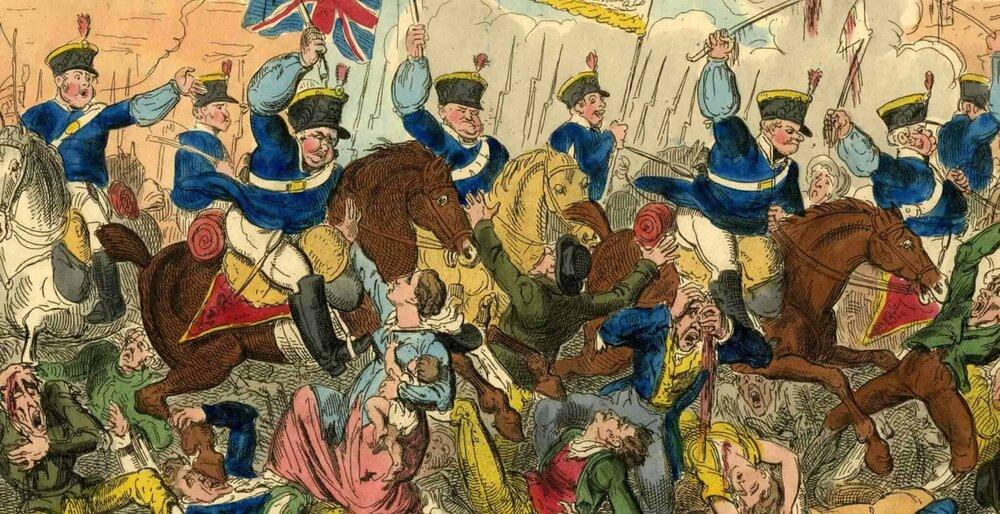 Le massacre de Peterloo, 1819