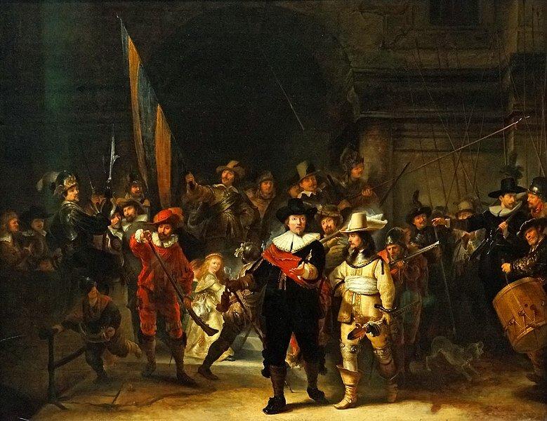 La Garde de nuit, Rembrandt. 1642. Photo Dennis Jarvis