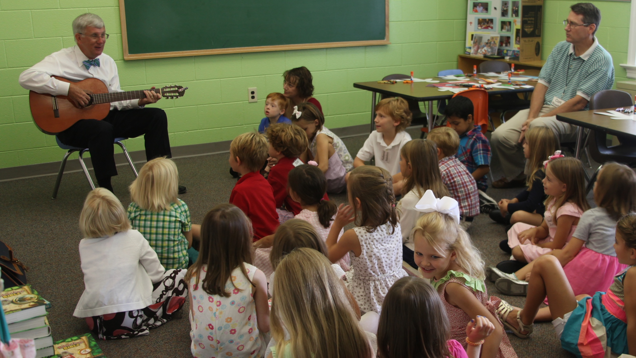 Mr Jimmy with the 1st graders.JPG