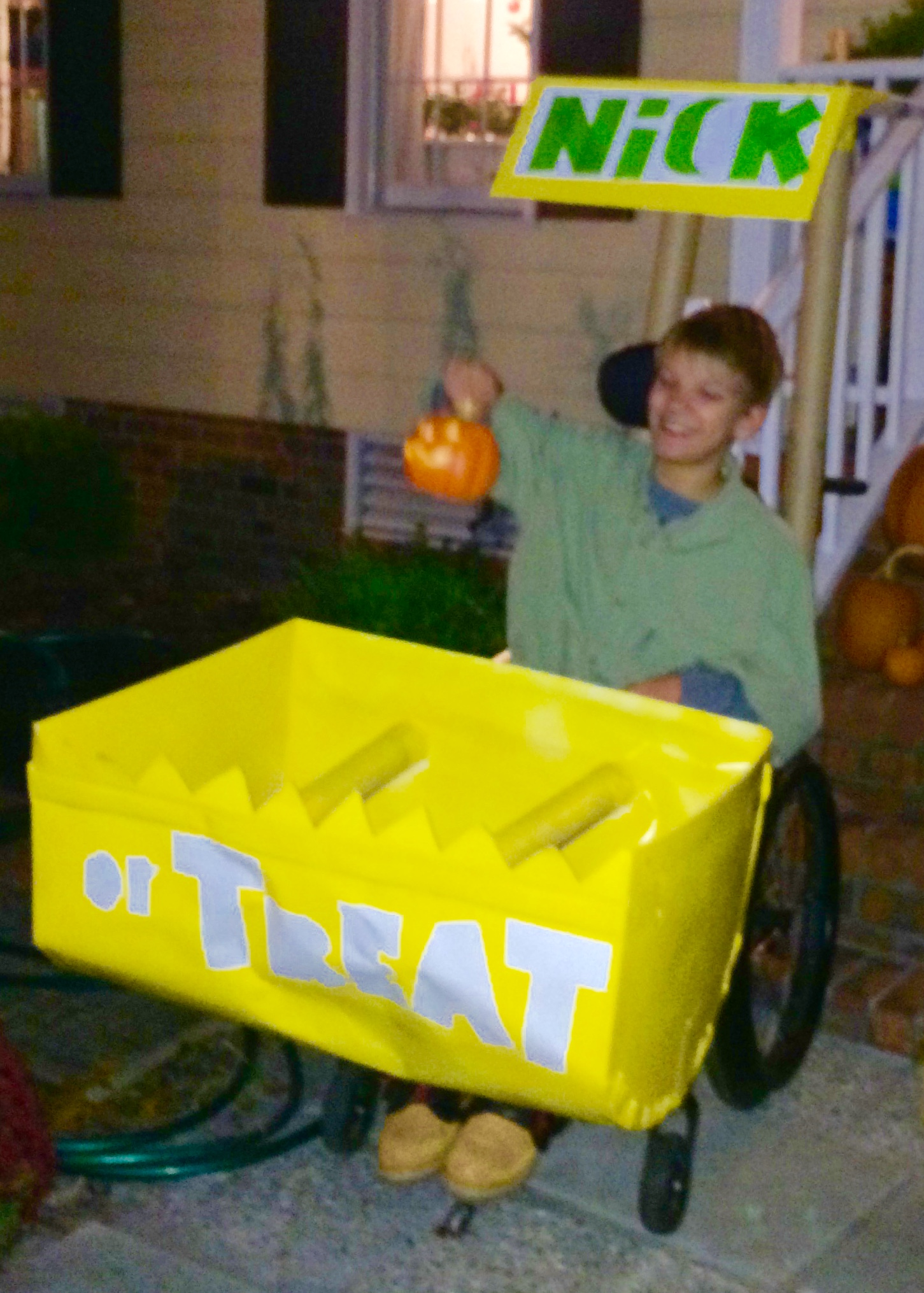 Front End Loader is excellent for receiving and handing out candy!