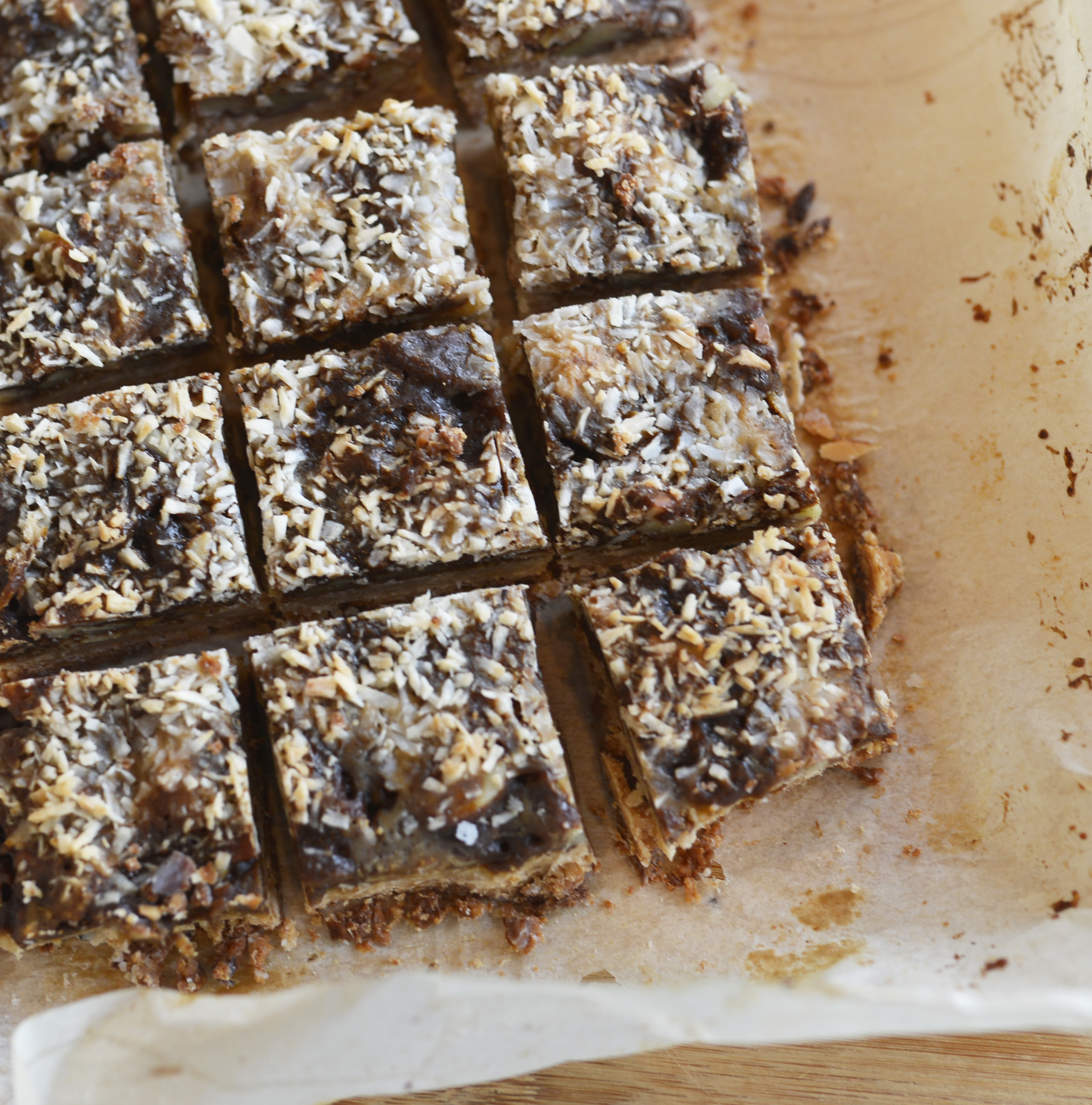 chewy coconut bars