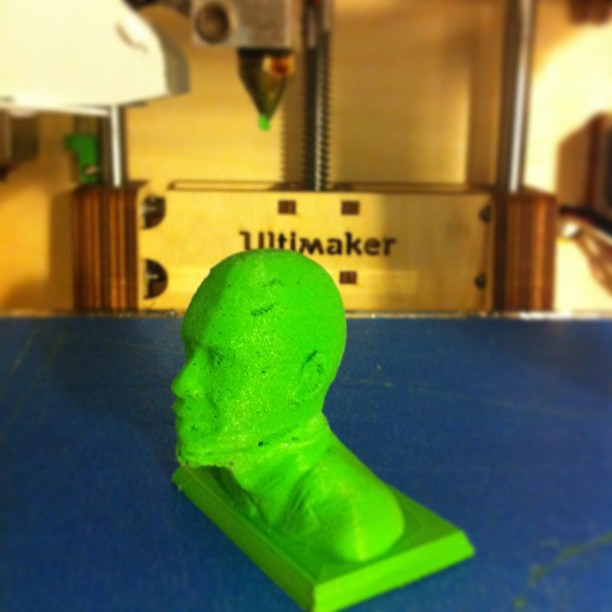 Test printing our newly built ultimaker with a lil Obama