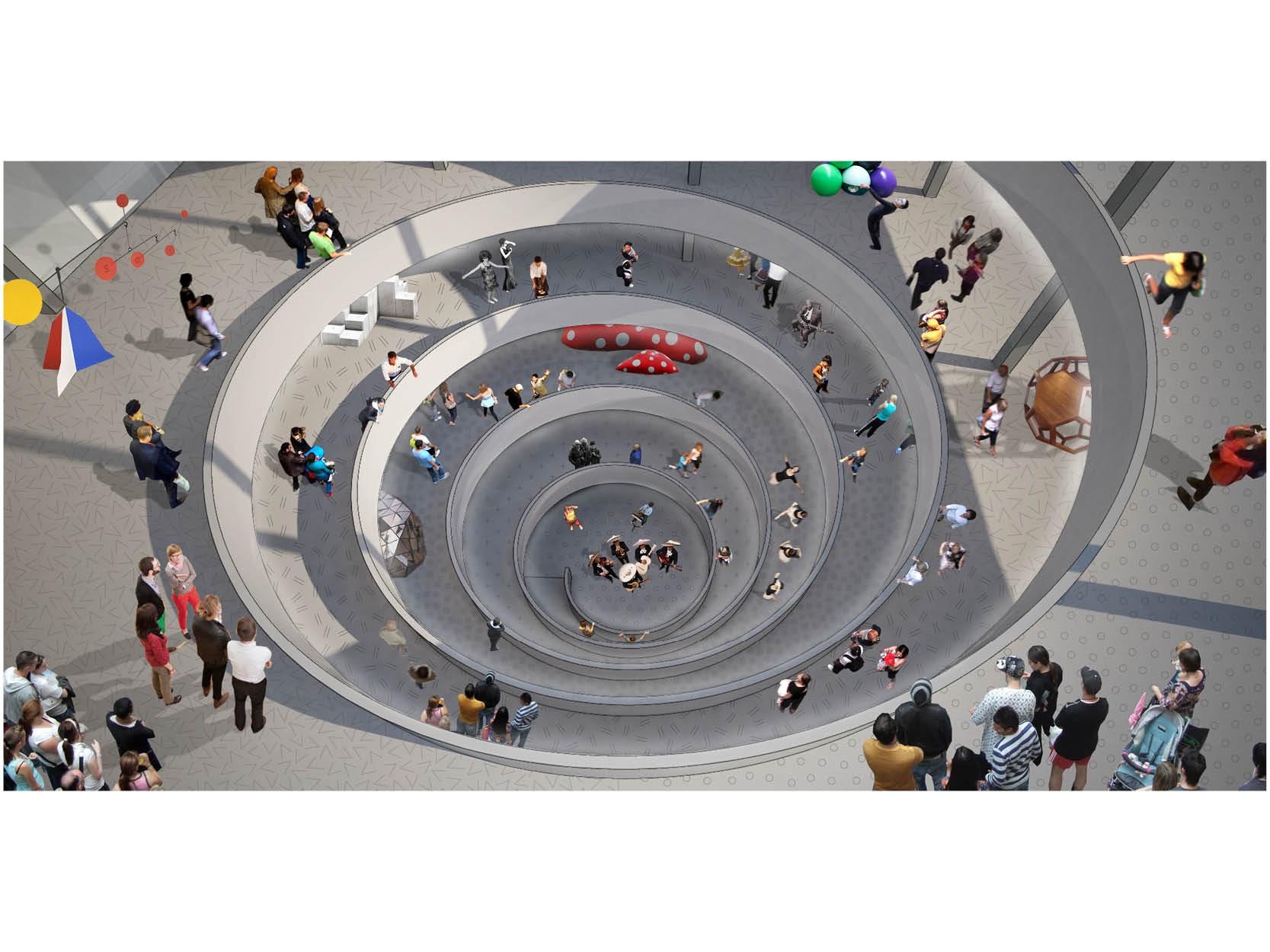 Parking Ramp and Spiral Arena