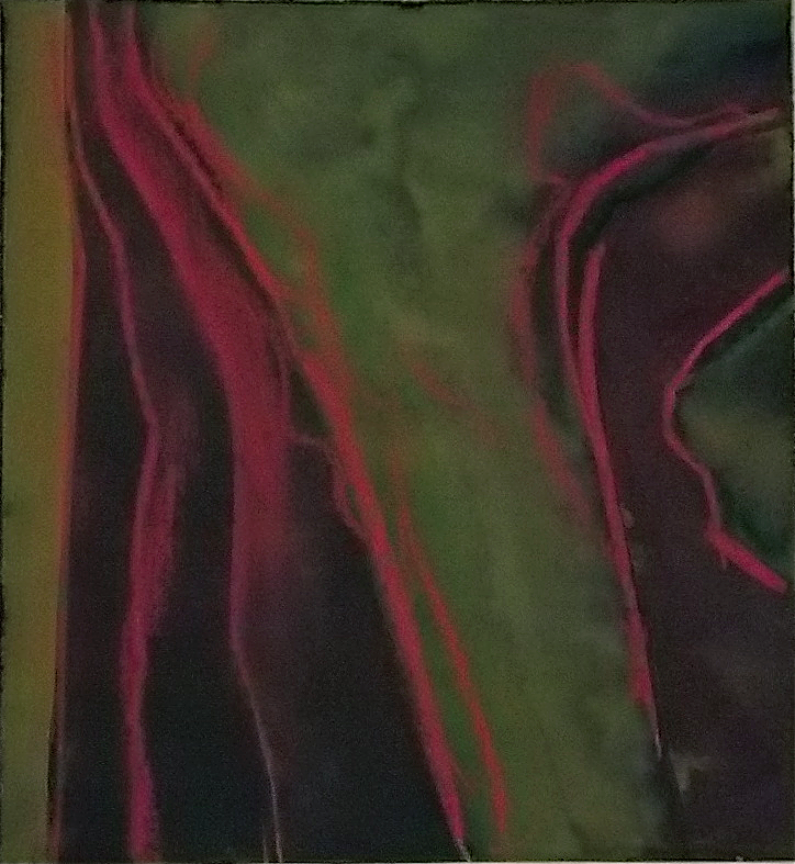 """Darkness that can be touched #1     6 3/4"""" x 7 3/8""""  pastel on watercolor on black paper"""