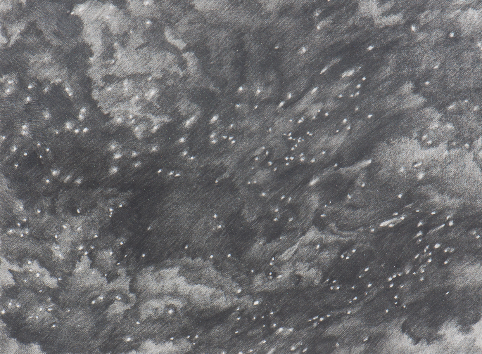 Title:the space around, blown salt Medium:drawing Size (h w d):9 x 12 in