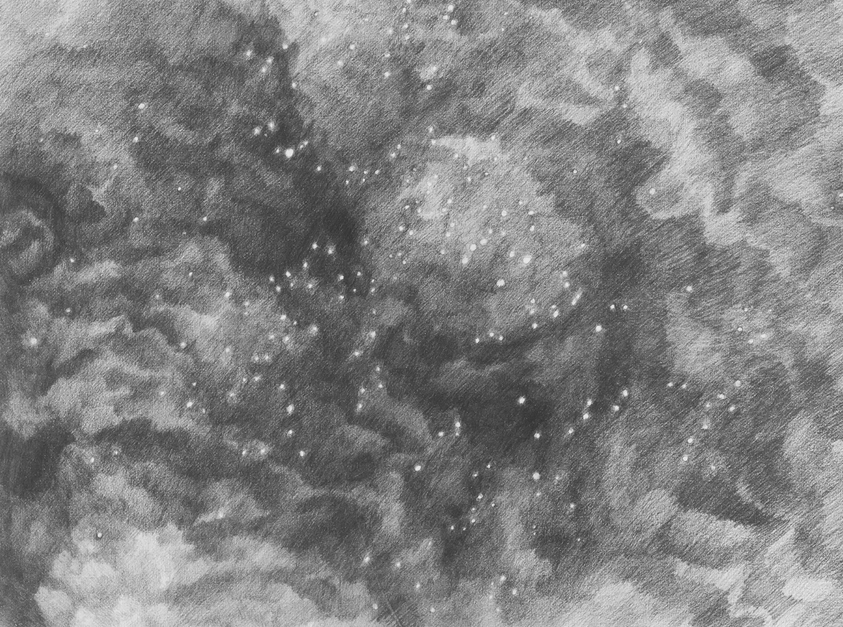 Title:the space around, dropped eraser dust Medium:drawing Size (h w d):9 x 12 in