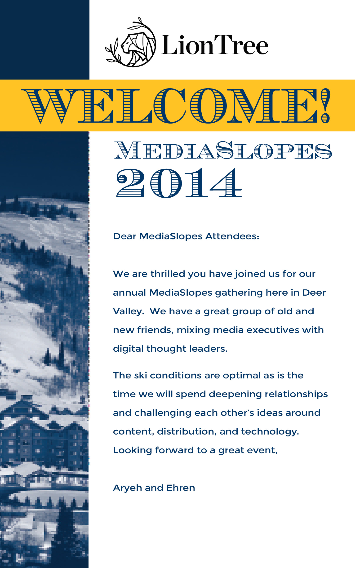 Welcome card