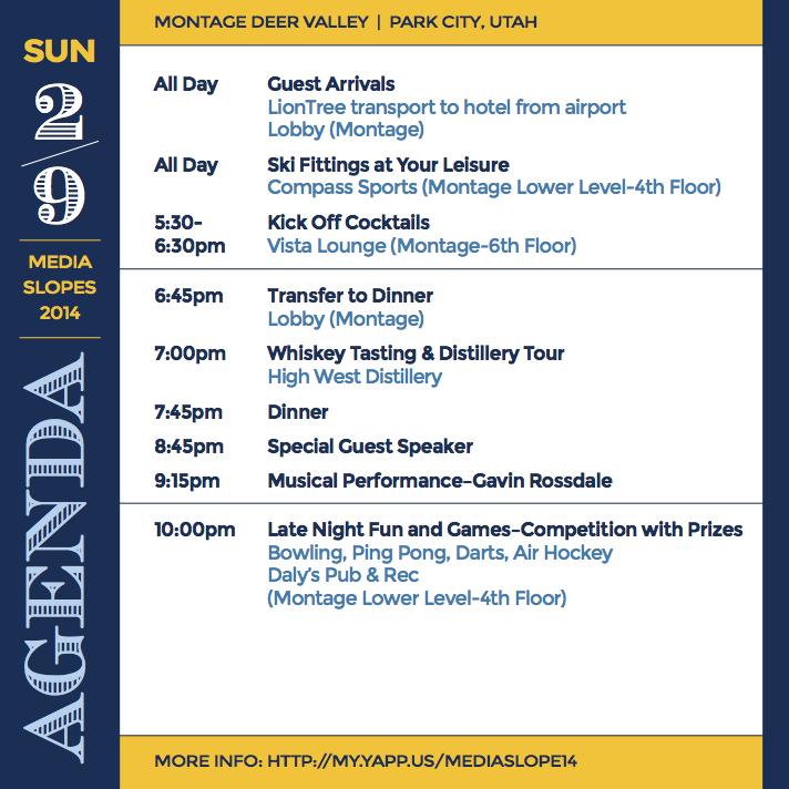 Agenda page