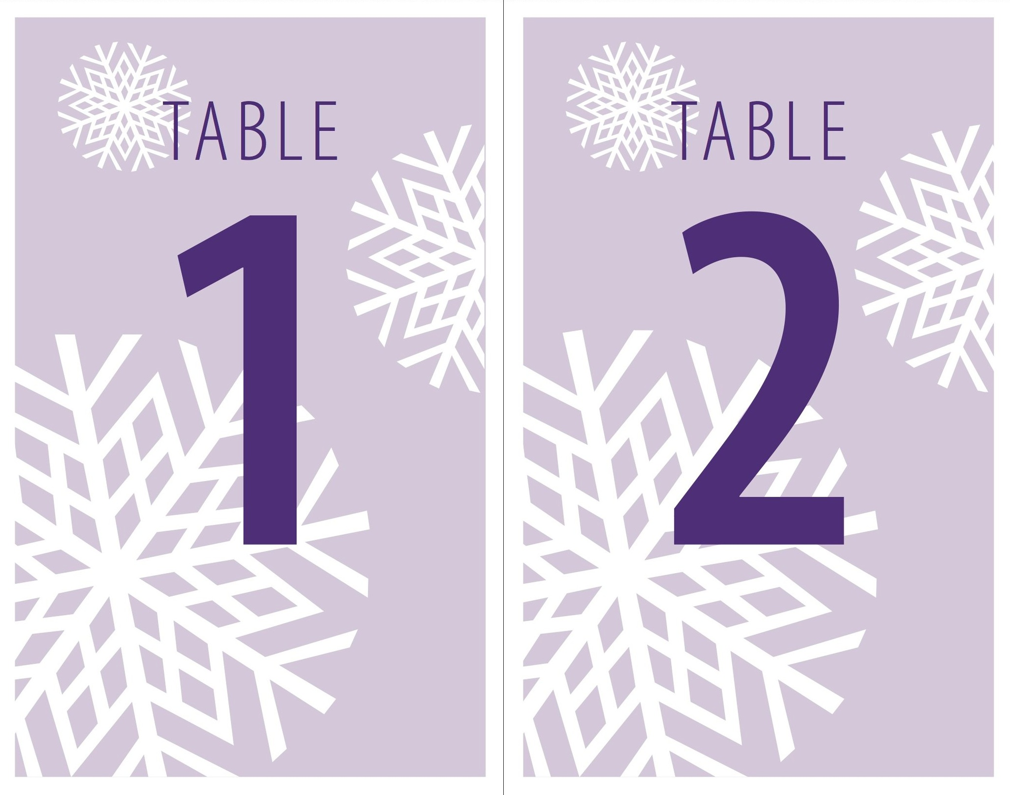 Large Table Number Signs