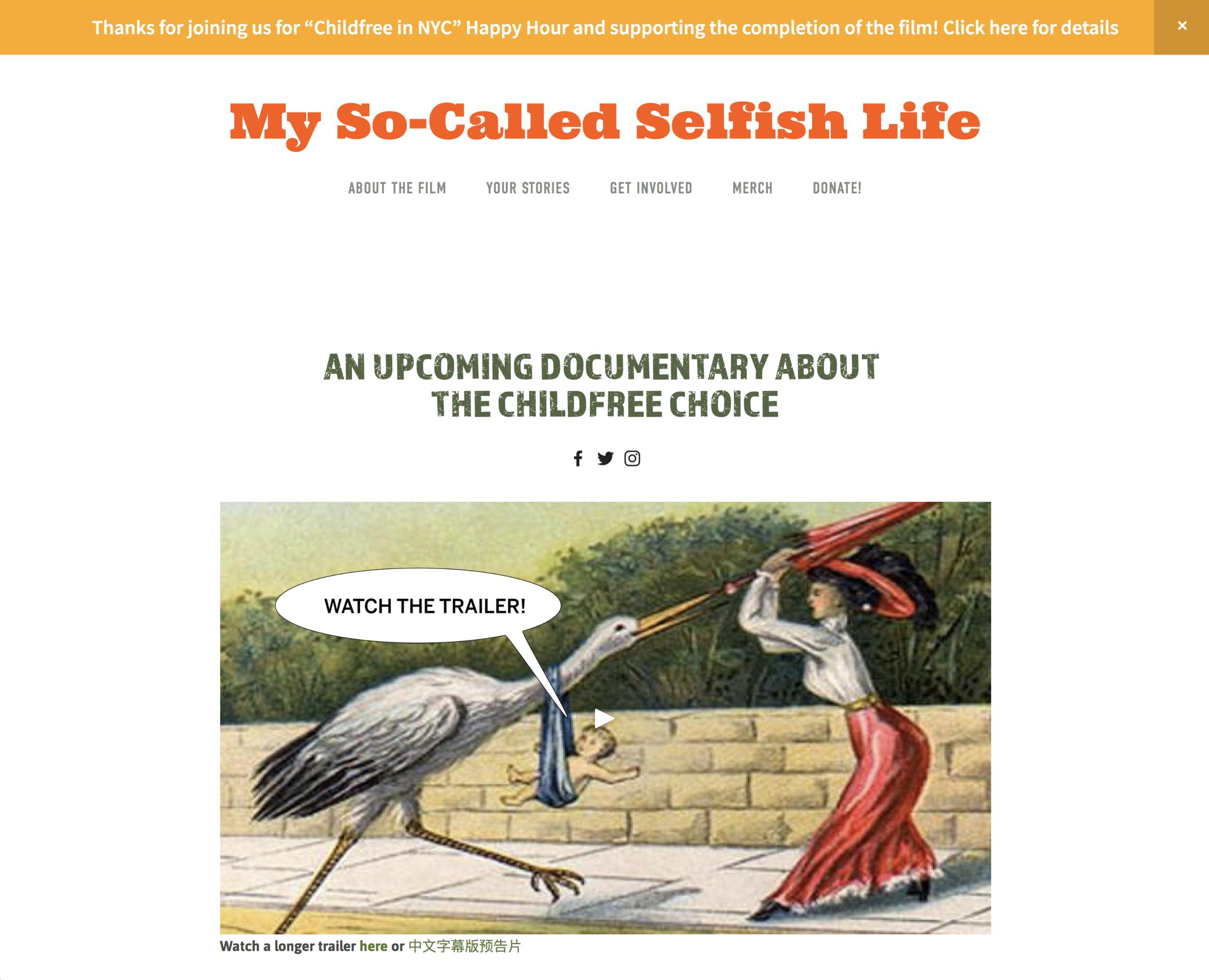 Website: My So-Called Selfish Life