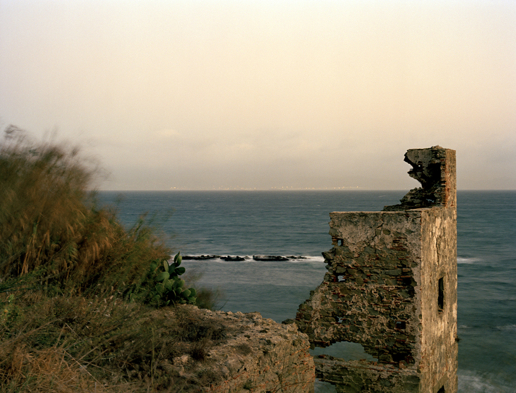 Strait of Gibraltar (Looking to Morocco), 48x63in, C-Print, 2011