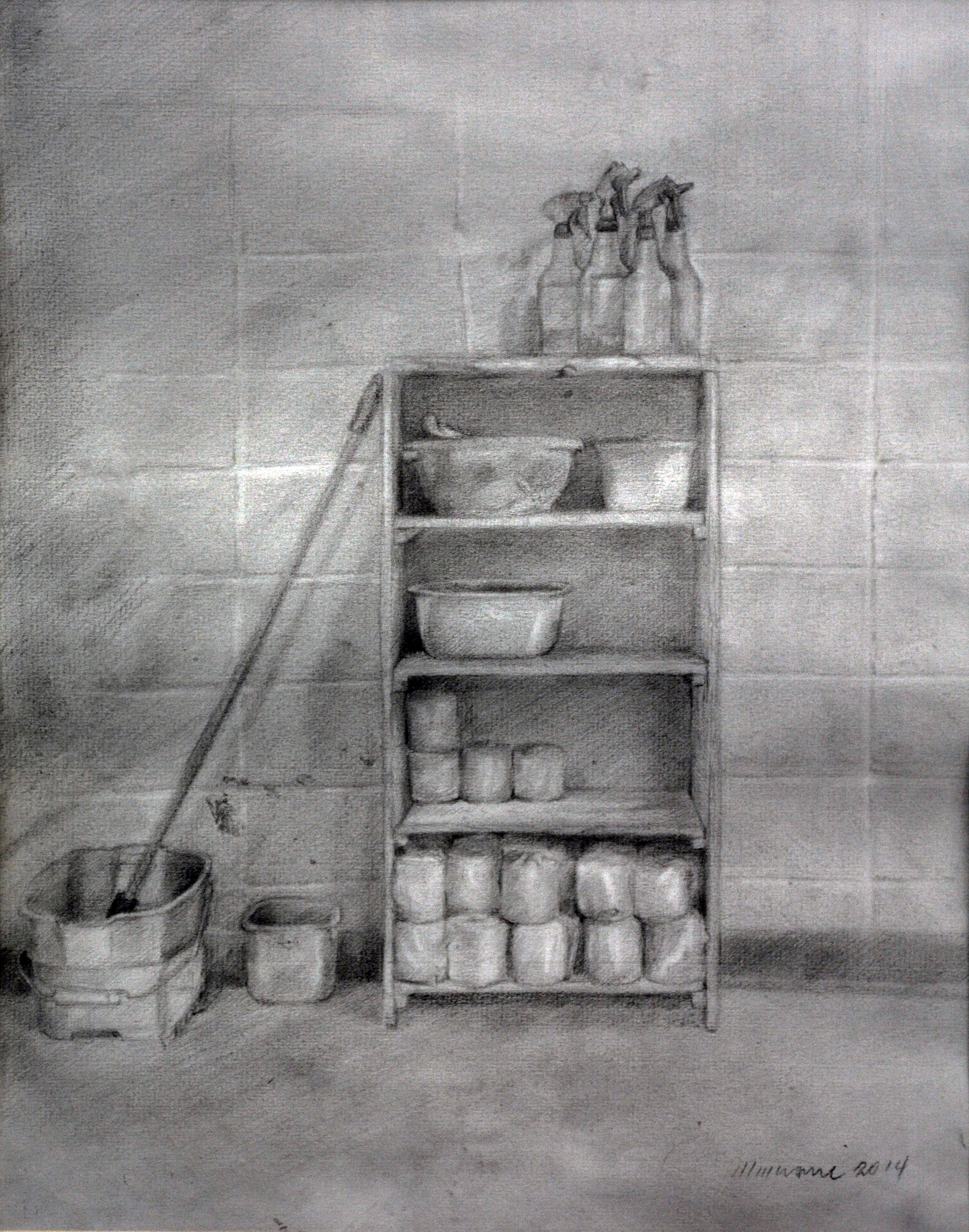 Picasso House Cleaning materials, pencil, new.JPG