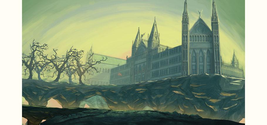 The Demon School building