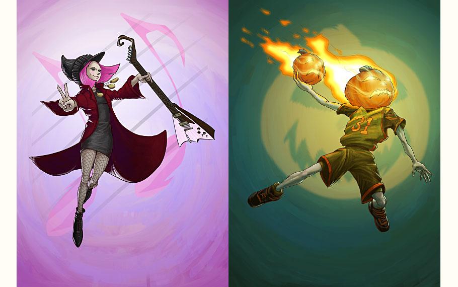 Rocker Witch, Jack 'o Lantern Jock