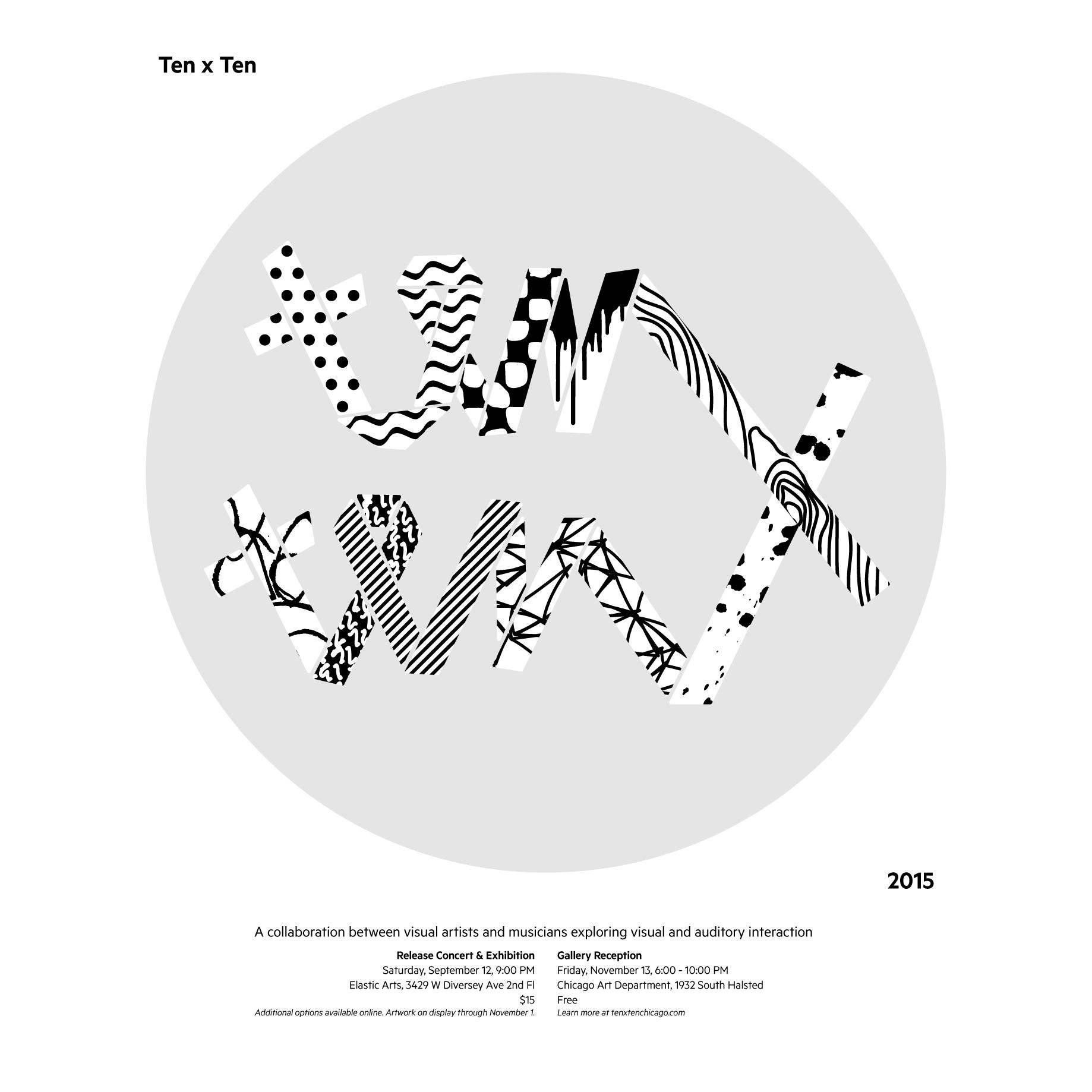 Ten x Ten 2015 Poster screenprinted by Craig Hansen