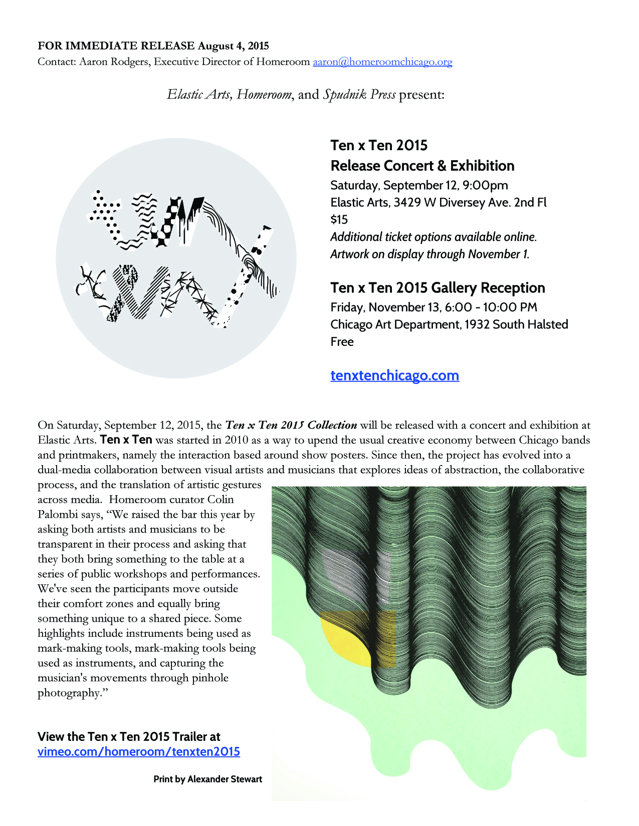 Ten x Ten 2015 Press Release 1/5