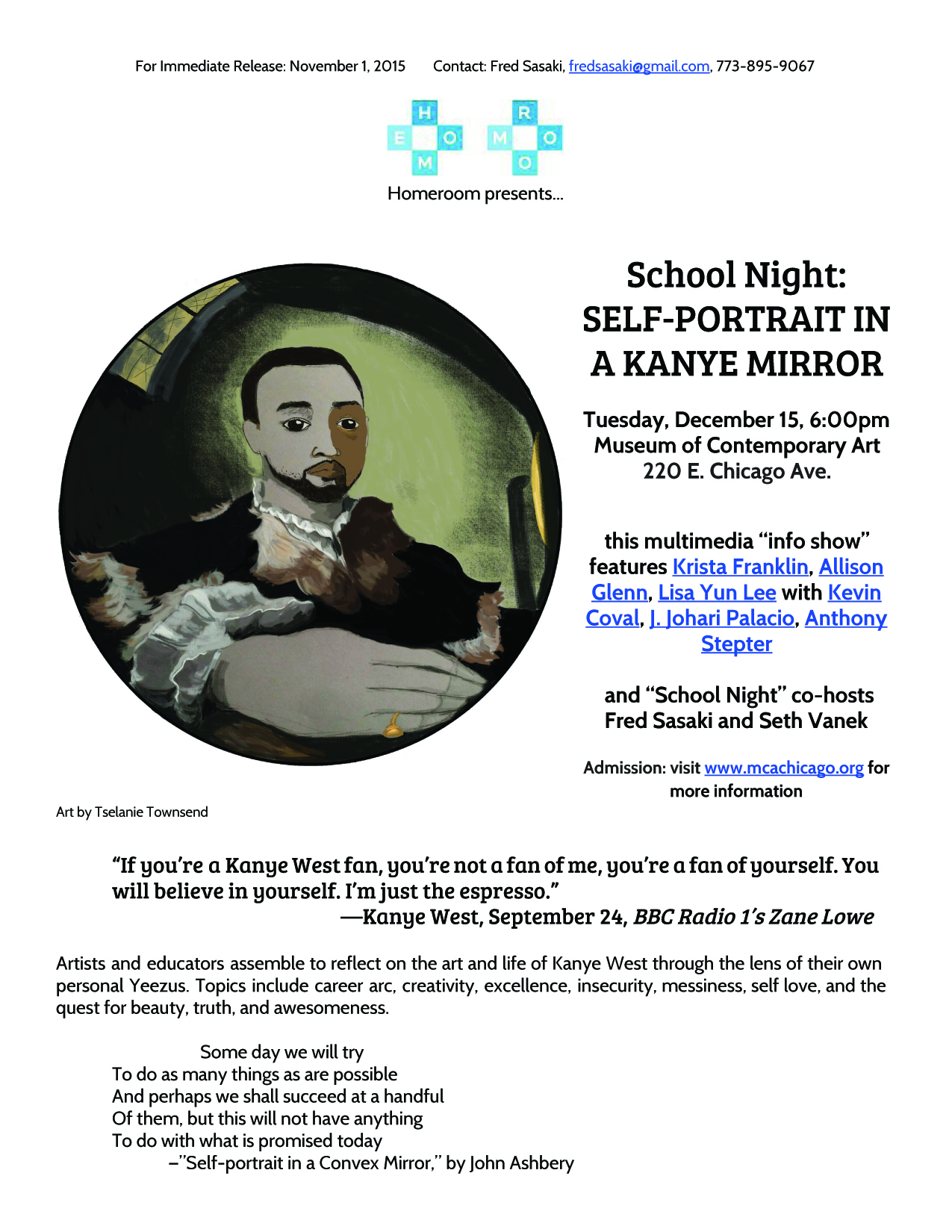 School Night 101 Press Release 1/2