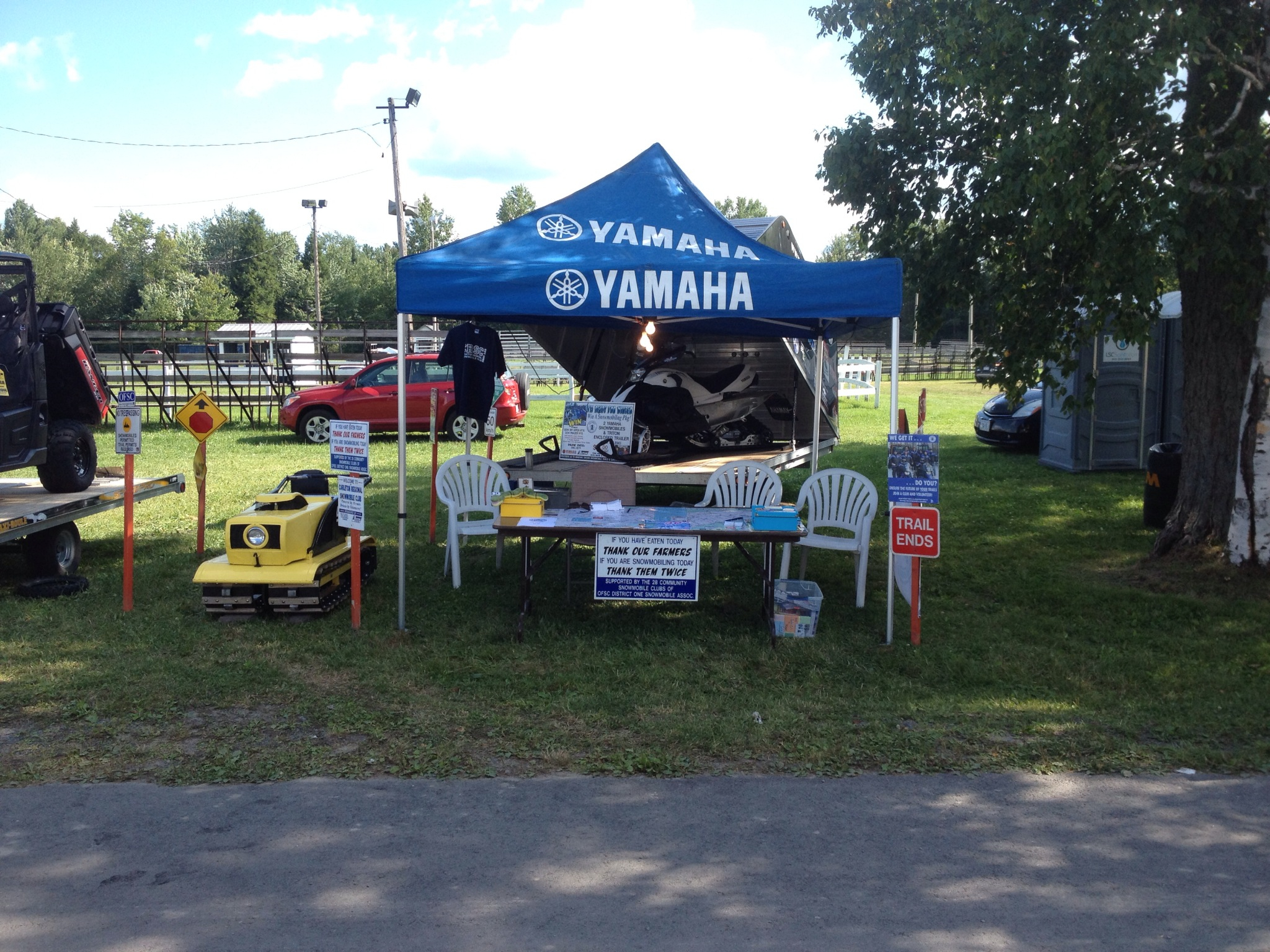 Our booth at the Navan Fair