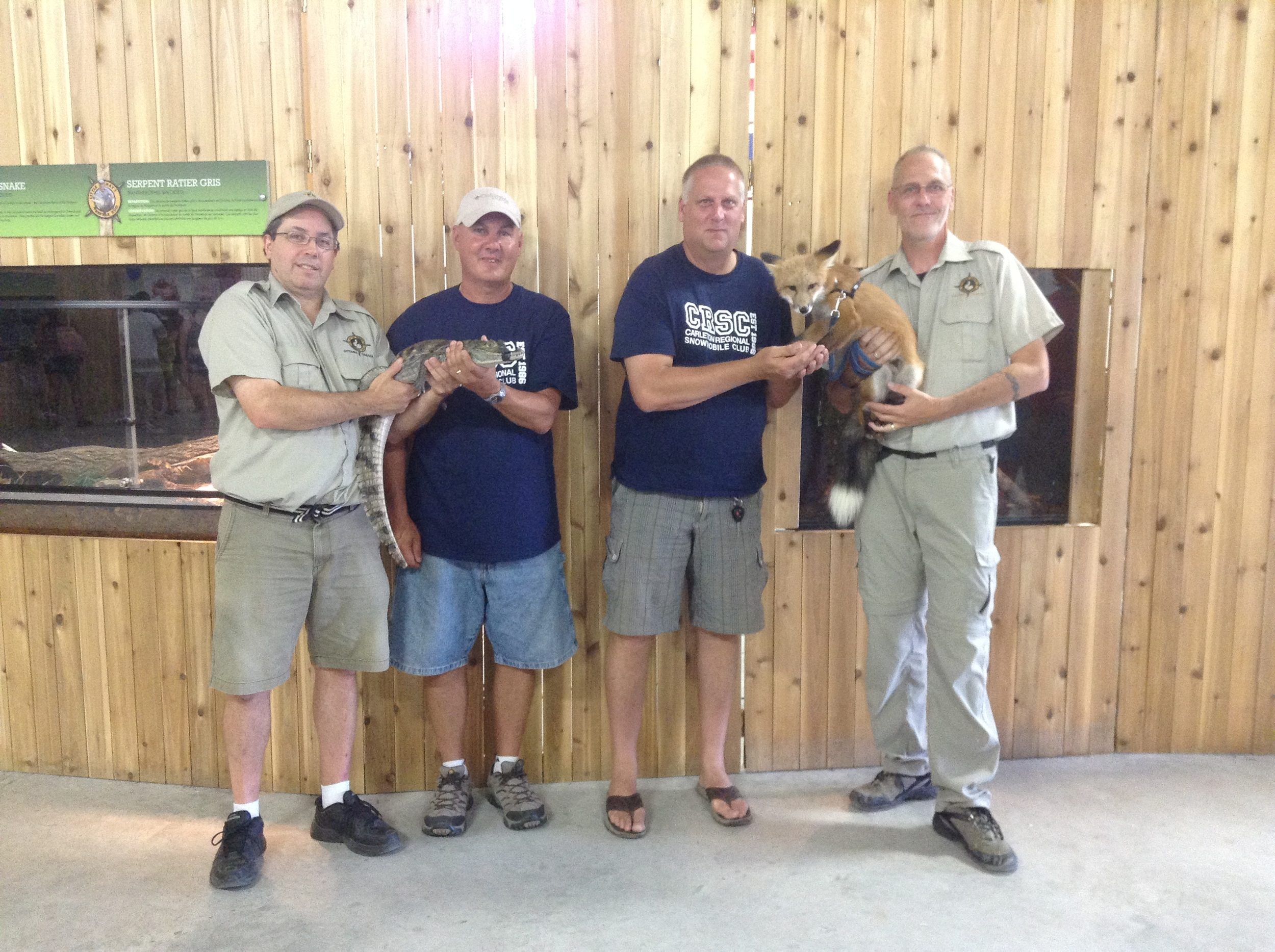 Little Ray's Reptile Zoo donated 3 Family Passes - pictured above (L-R) Michael, Rick, Dean and Kevin