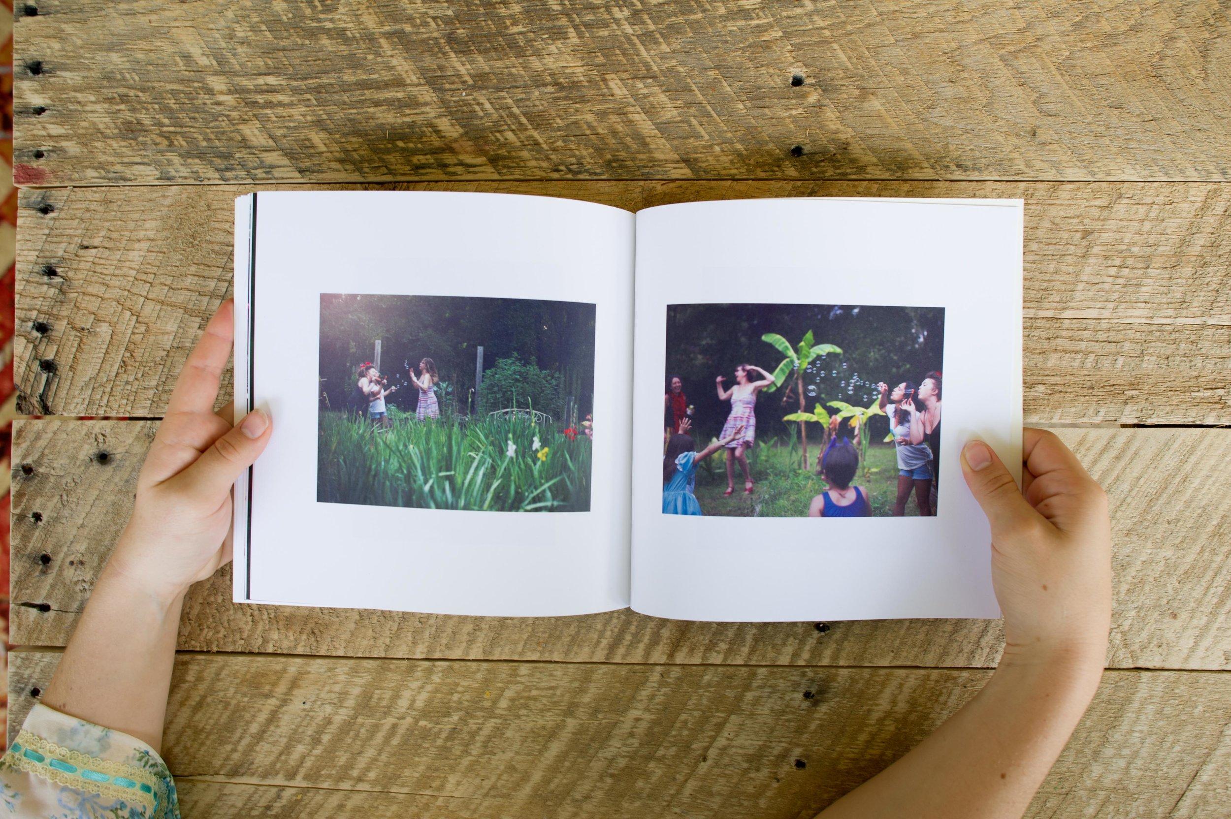 Hardbound Photo Album + Photoshoot   8.5 x 8.5 Twenty pages (10 spreads) 25-30 images  $1200   10 x 10 Thirty pages (15 spreads) 30-40 images  $1500