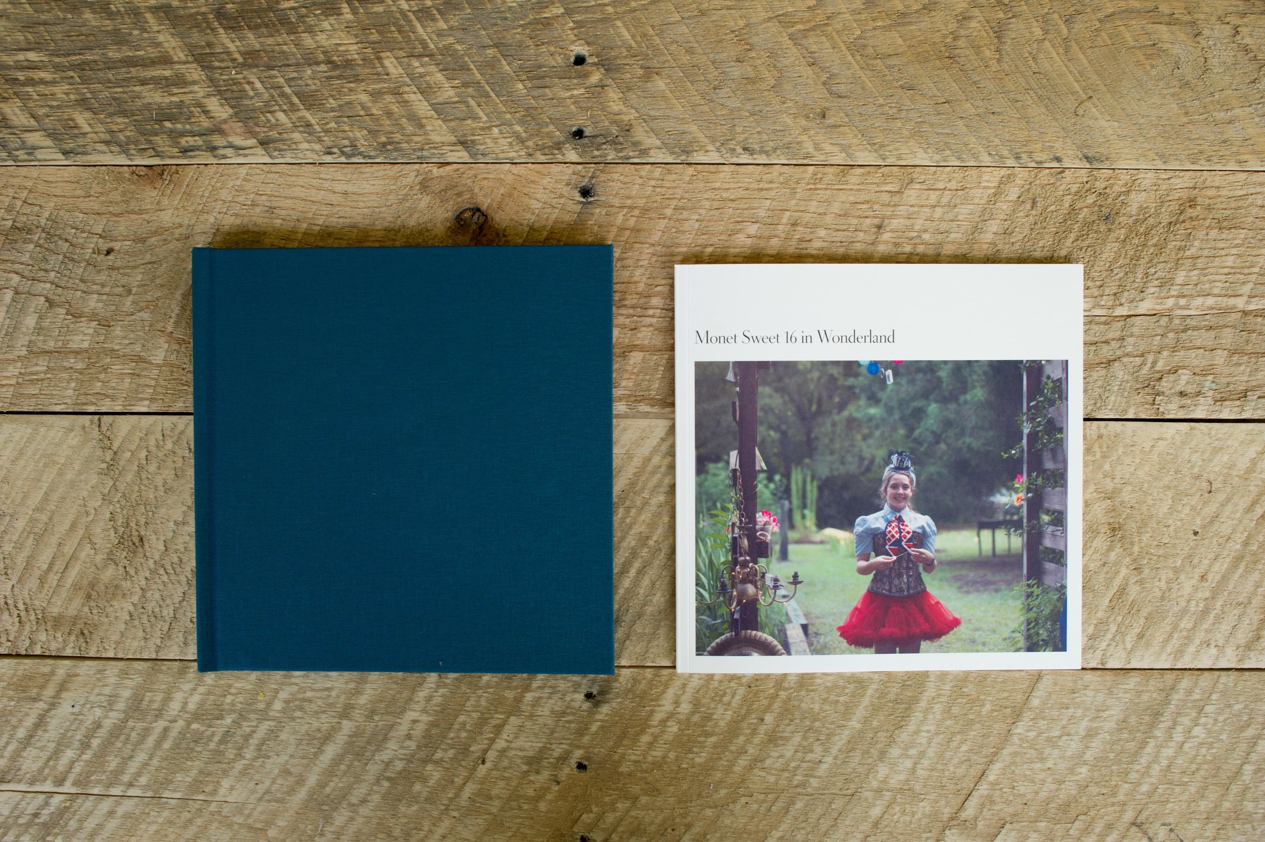 Hardbound cover/ 100%recycled soft pages + Photoshoot  8.5 x 8.5 Fifty pages (25 spreads)  $