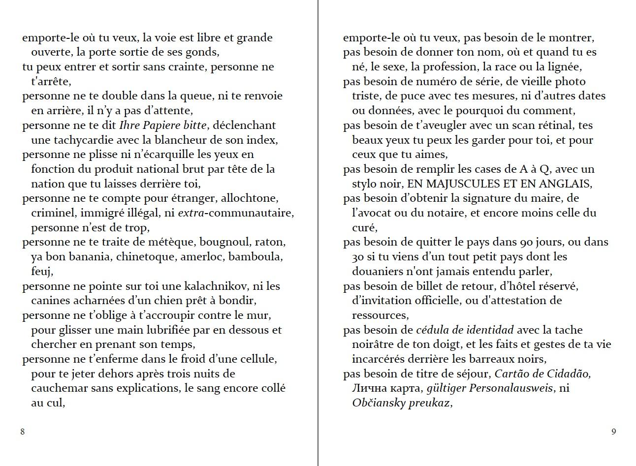 """p. 8-9 du """"Passeport"""" en français. Adapté par Elizabeth Grech (6ème édition)."""