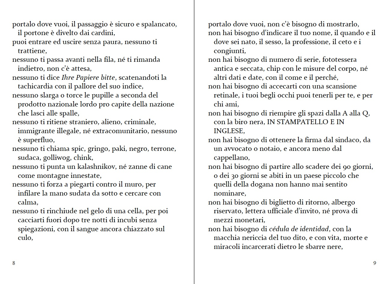 """p. 8-9 del """"Passaporto"""" in italiano. Adattato da Biagio Lieti & Antoine Cassar (3ª edizione)."""