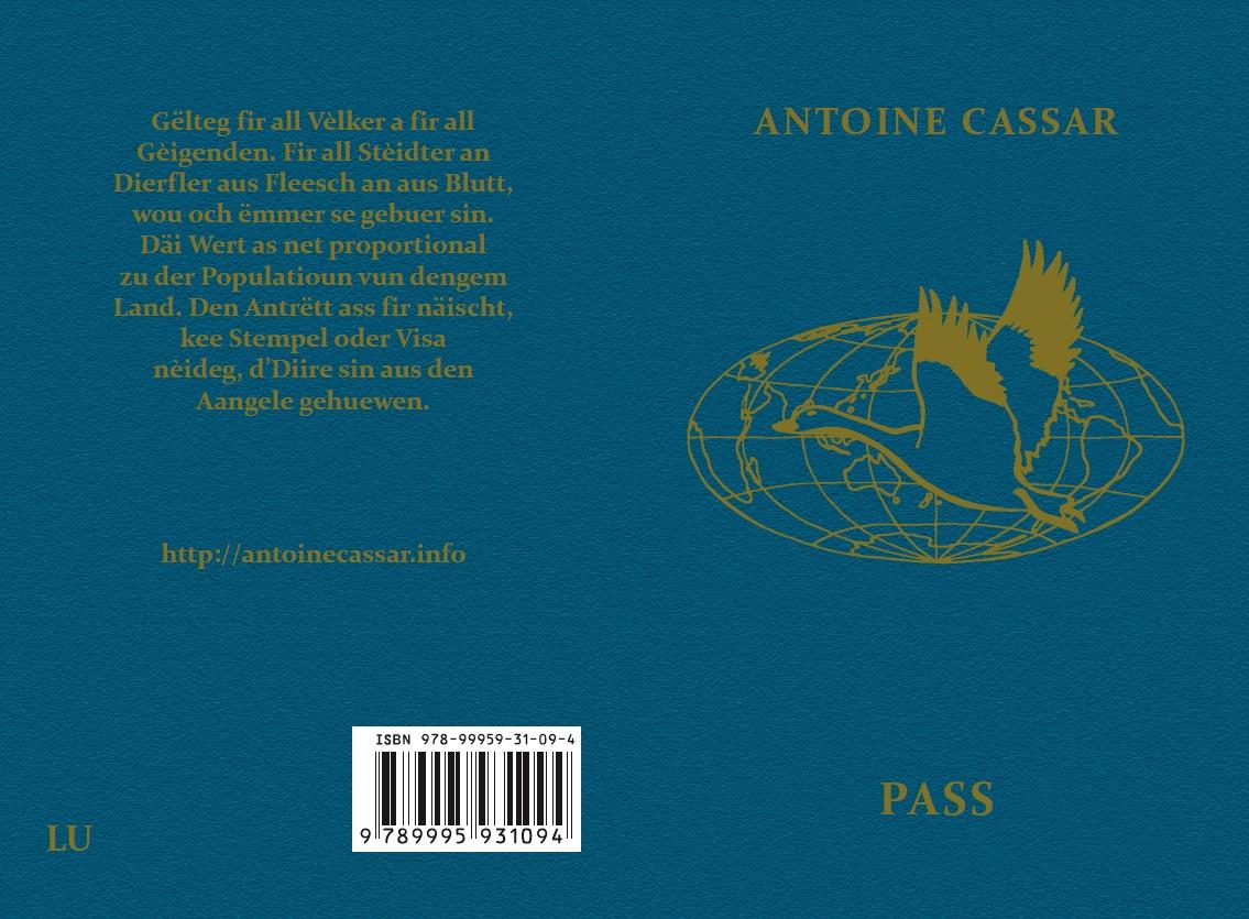 """""""Pass"""" op Lëtzebuergesch. Adapted by Francis Kirps (zweet Editioun)."""