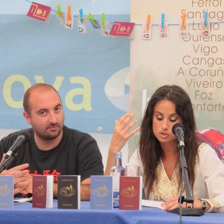 Yolanda Castaño, La Coruña Book Fair (Spain), August 2010
