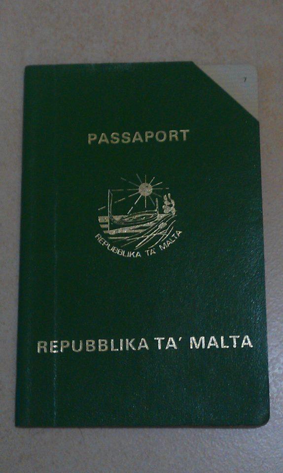 The green Maltese passport of the 1980s. Photo by Caldon Merceica.