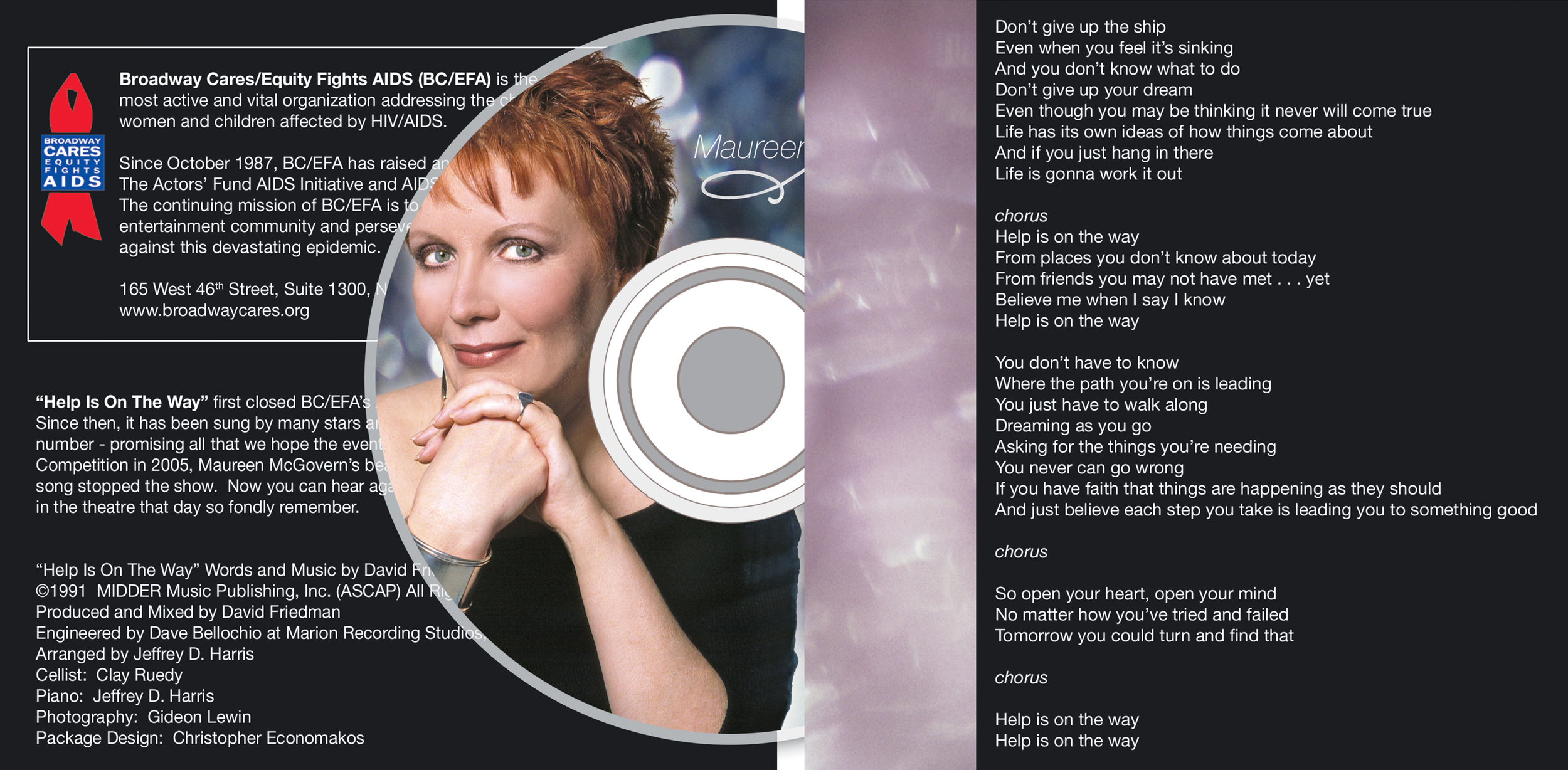 Help is on the Way CD Cover - Interior