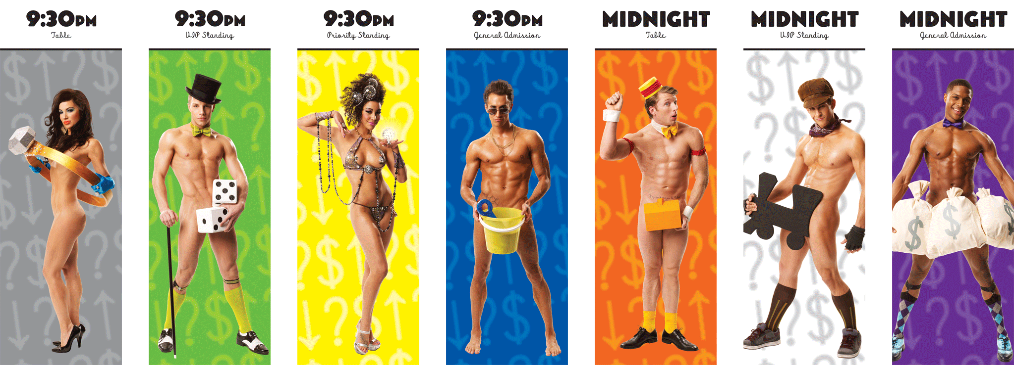 Broadway Bares: Stripopoly Tickets - Front