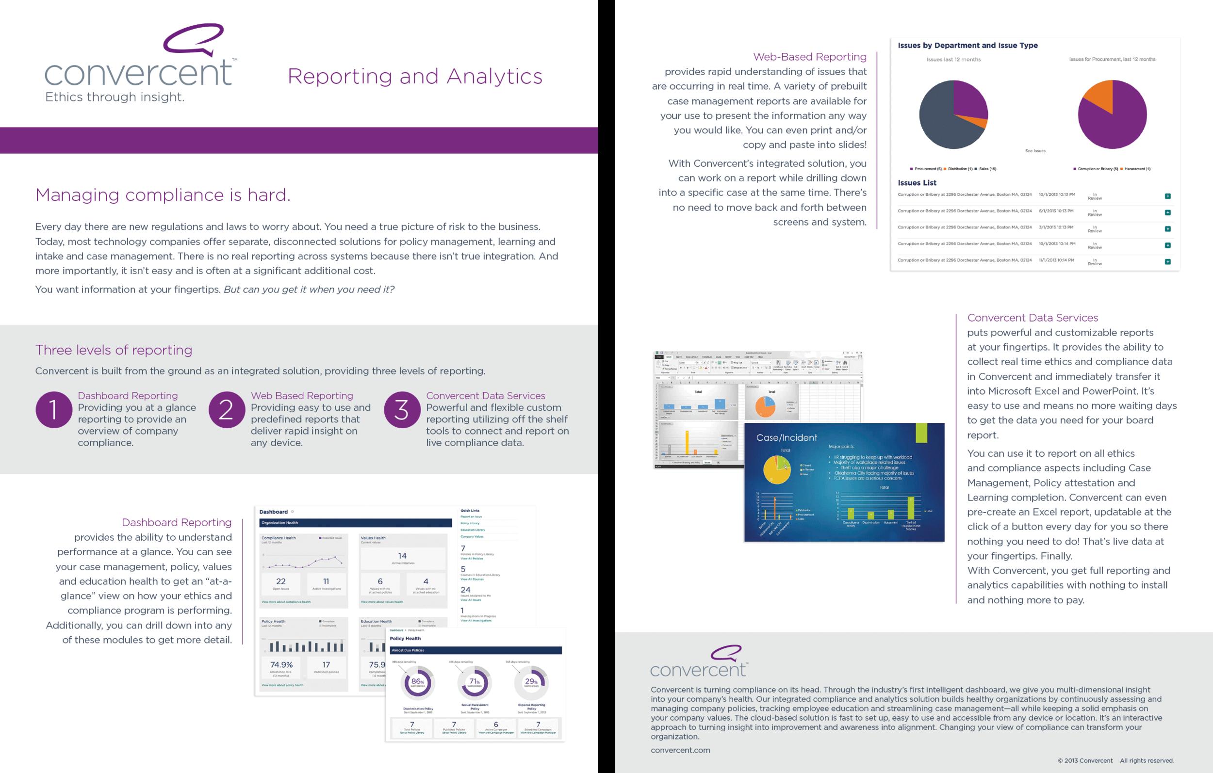 Reporting and Analytics Datasheet