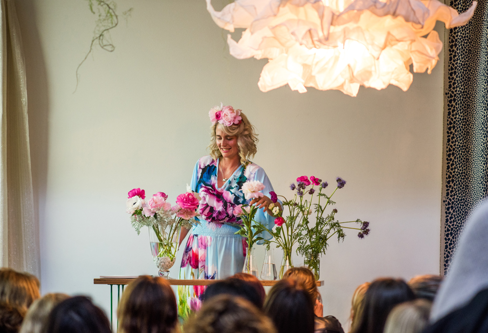 Laura demonstrates a simple floral display using flowers from  My Flower Cart  |  photo: Florence Charvin