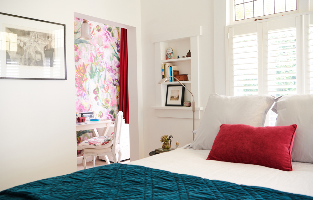 We had beautiful wooden shutters installed in Marilyn's bedroom | photo:    Florence Charvin