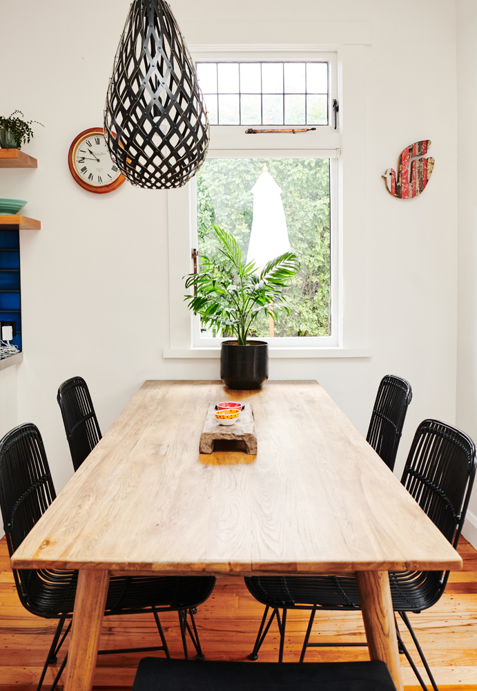 The dining table is one of our favourites in recycled oak | photo:    Florence Charvin